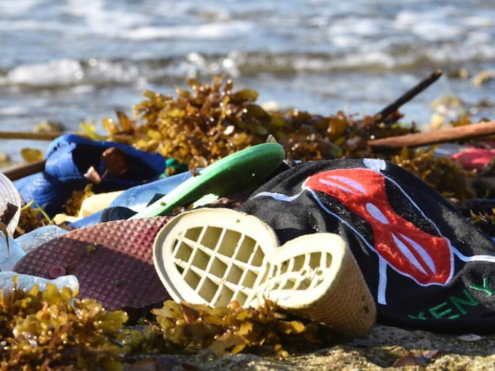 Fashion waste polluting the ocean
