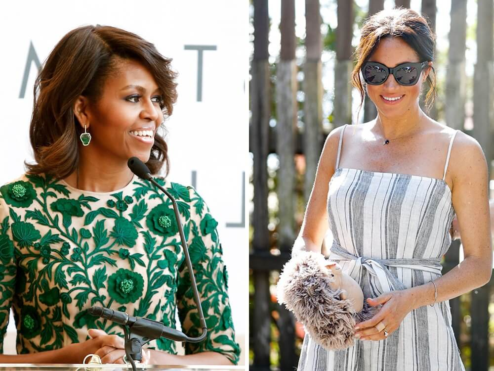 Meghan Markle and Michelle Obama advocate sustainable fashion