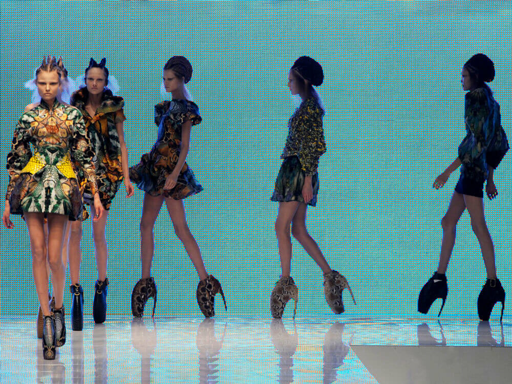Alexander McQueen Fashion Plato Atlantis 2010 - models on the catwalk