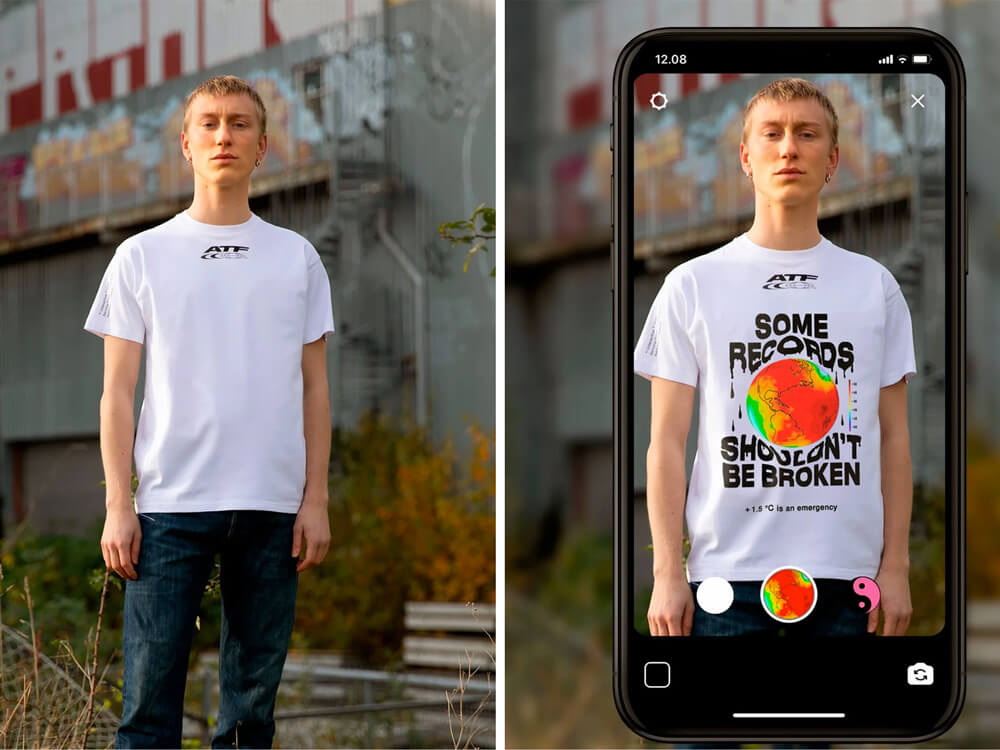 AR instagram filters for clothing by carlings