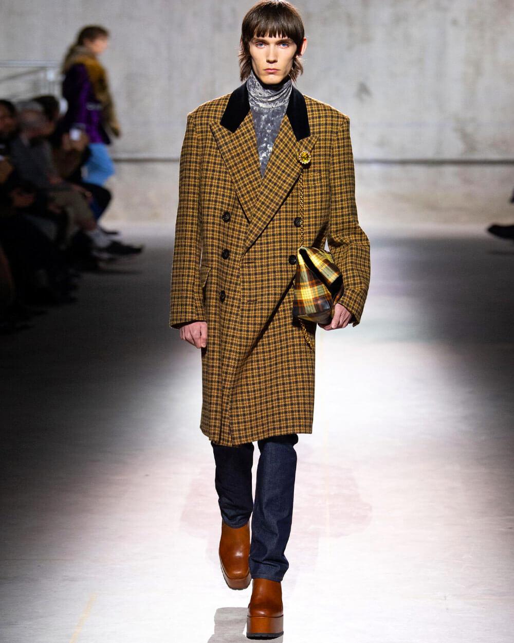 Dries Van Noten high heels for men at paris fashion week fall 2020