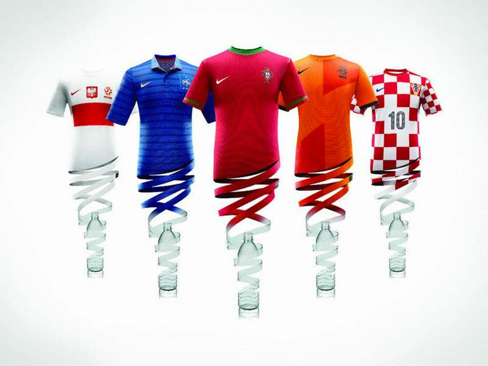 Nike recycled plastic bottles clothing
