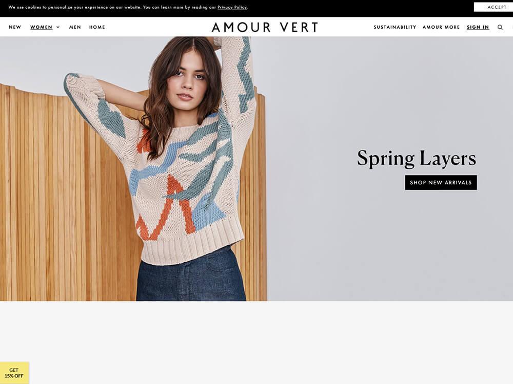 Amour Vert - Hybrid Sustainable Clothing Store