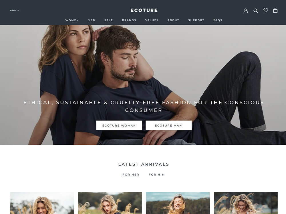 Ecoture eco-friendly clothing