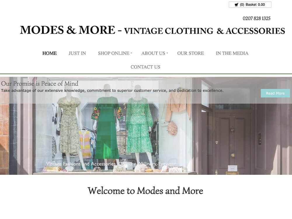 Modes & More online vintage clothing store