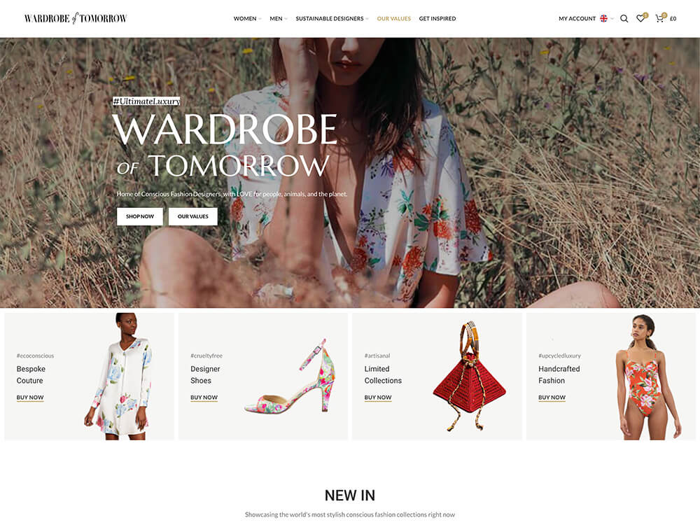 Wardrobe of Tomorrow vintage clothing store