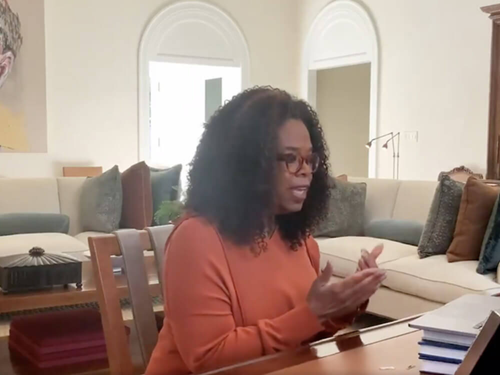 Oprah interviewing Idris Elba and Sabrina Dhowre after testing positive for COVID-19