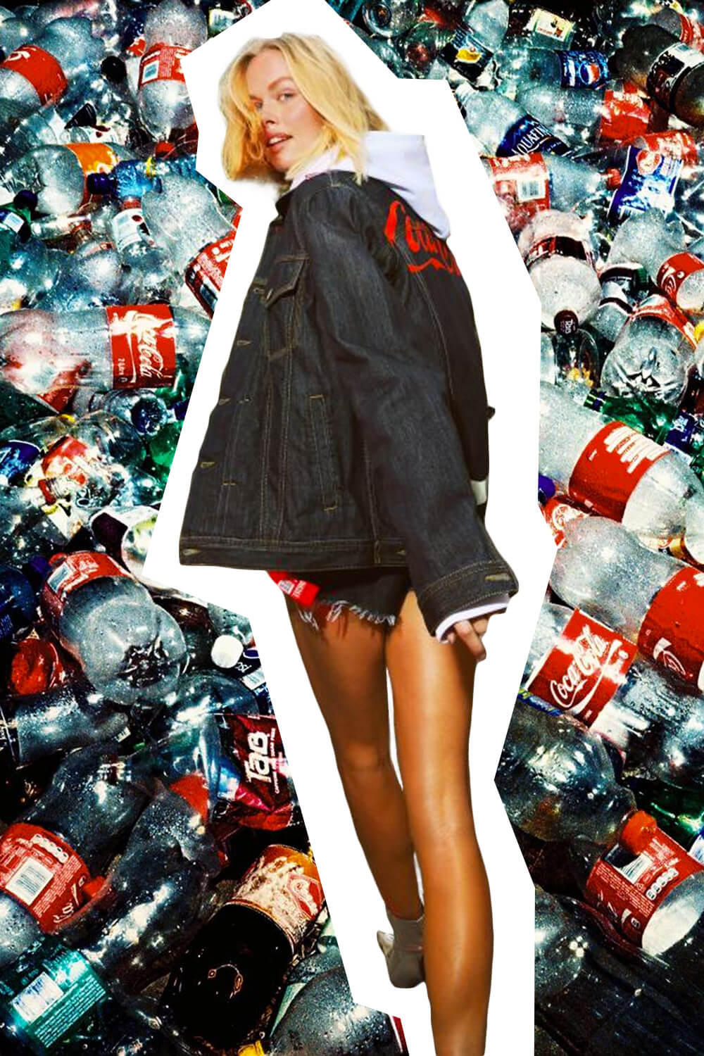 Recycling coca cola plastic bottles