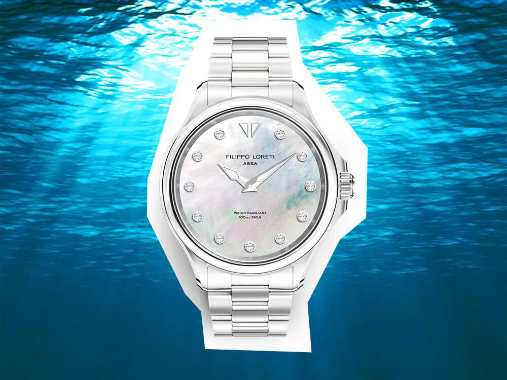 Filippo Loreti Silver White Pearl