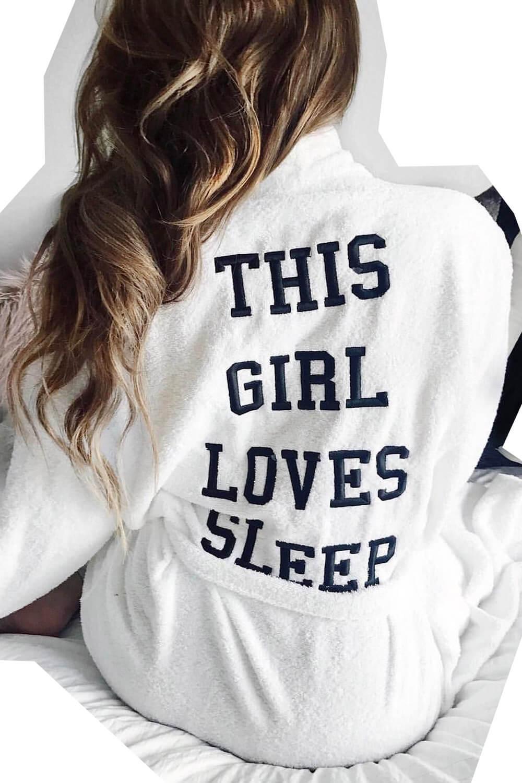 Girls sleep robe nightwear