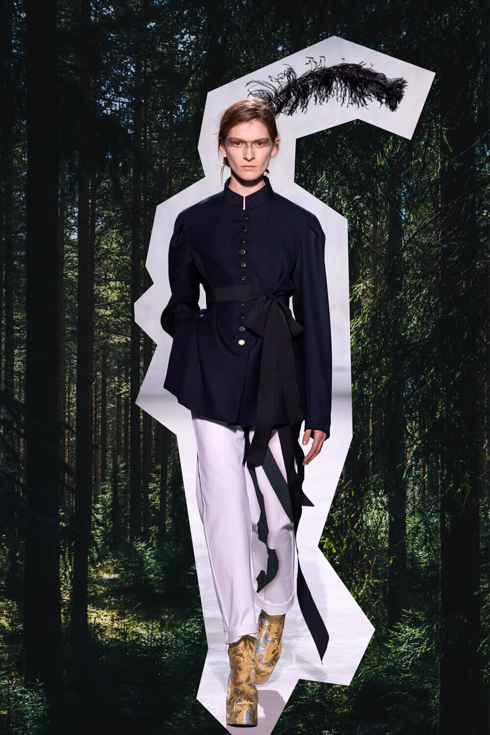 Dries Van Noten minimalist fashion collection
