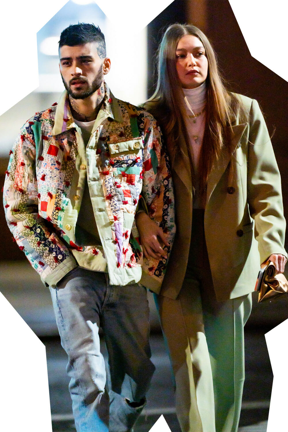 Zayn Malik wearing BODE with Gigi Hadid