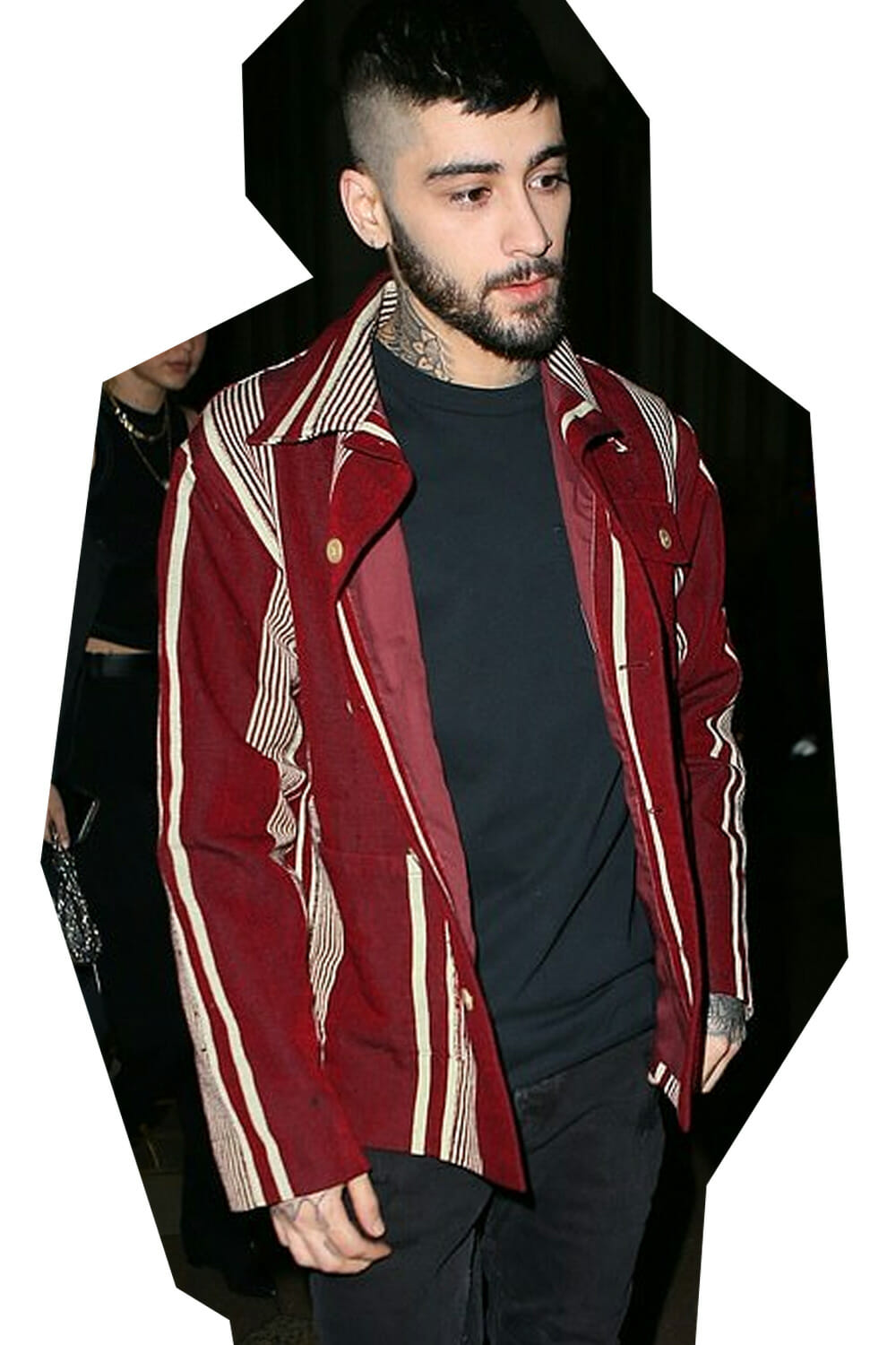 Zayn Malik wearing BODE upcycled vintage shirt