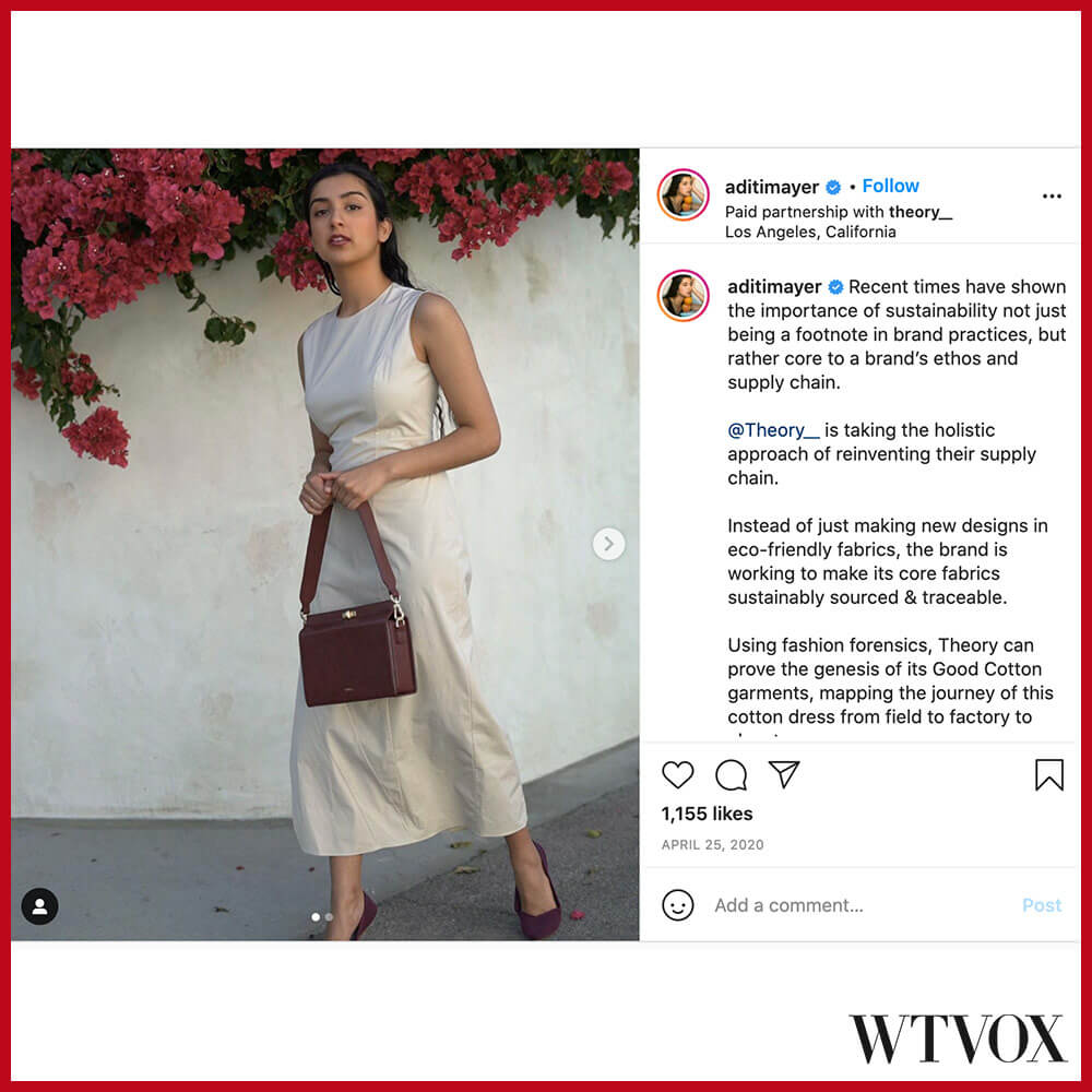 Aditi Mayer fashion influencer