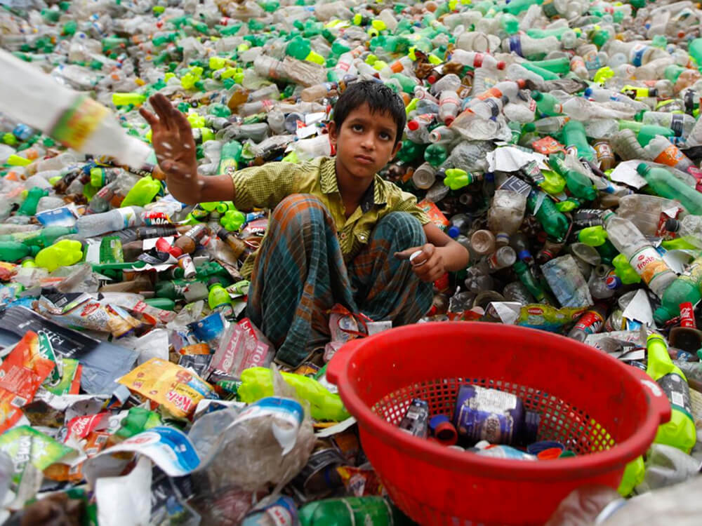 Plastic landfills