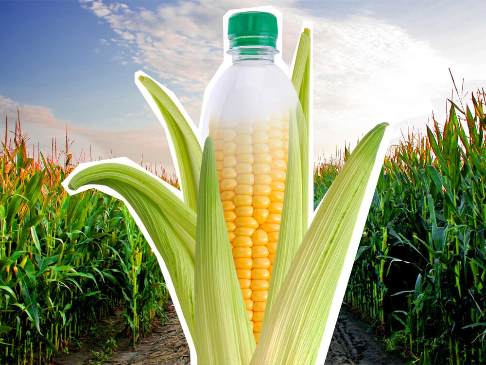 Bio plastic from corn