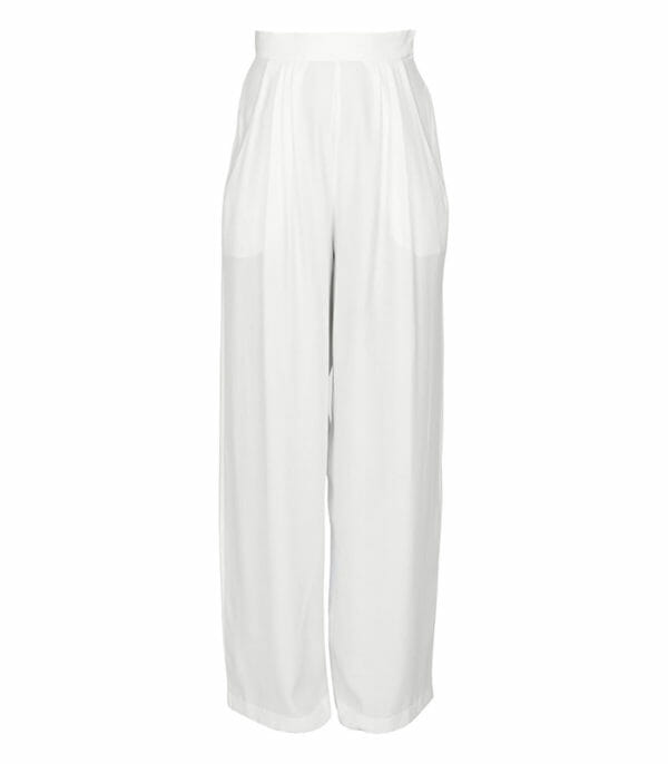 Brooke Da Cruz White Minimalist Trousers
