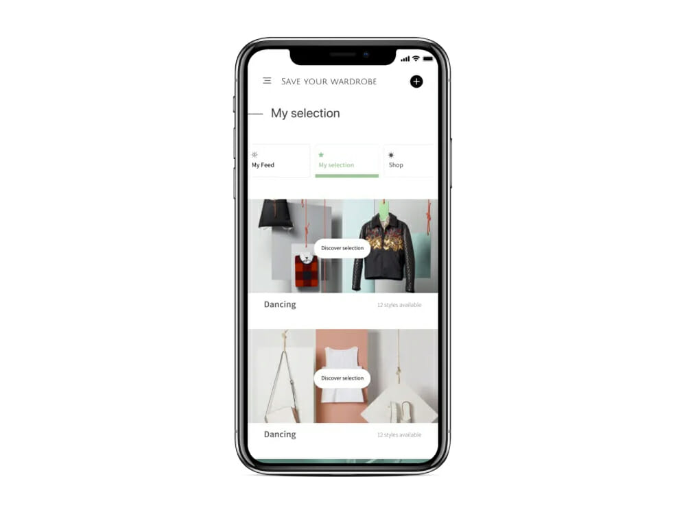 Save Your Wardrobe AI sustainable fashion app