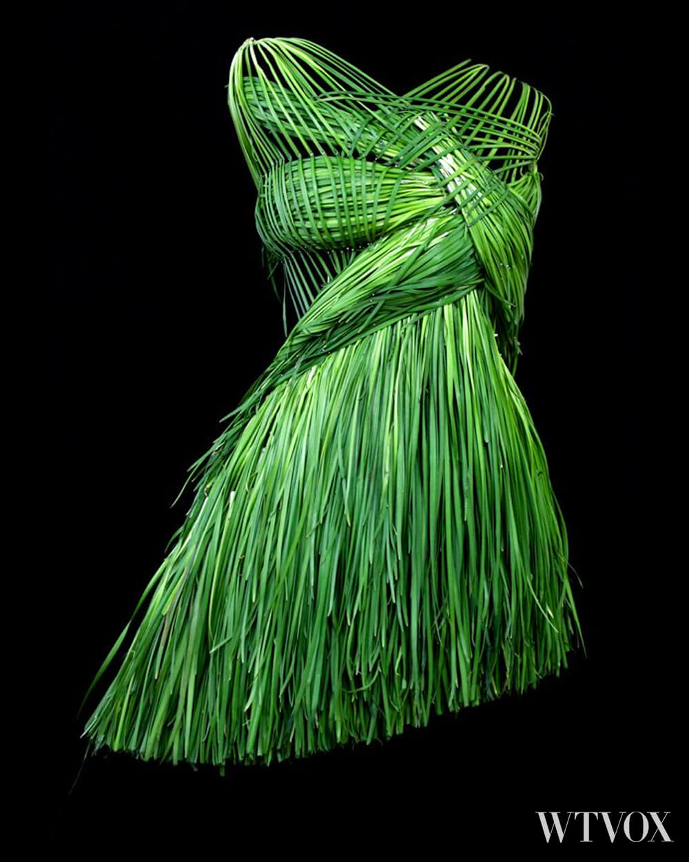 Wearable Foods by Yeonju Sung Green dress collection