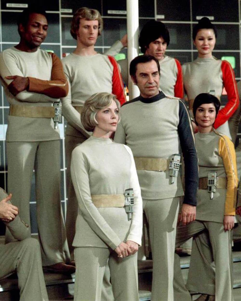 Space:1999 movie series' Androgynous Fashion by Rudi Gernreich.