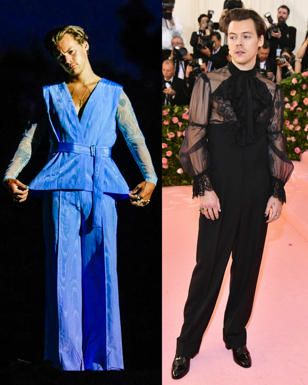 Harry Styles androgynous look