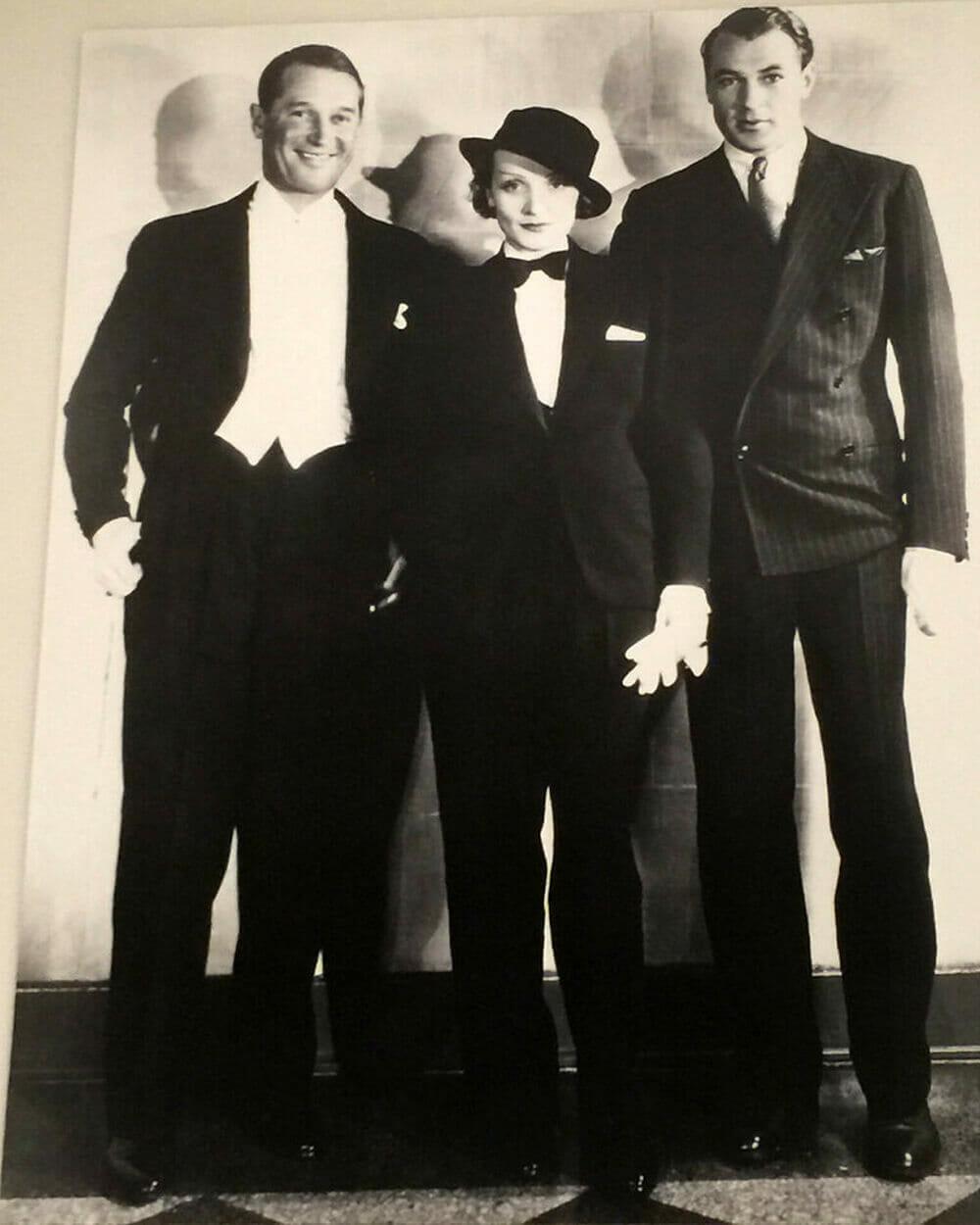 Marlene Dietrich wearing trousers in 1900s