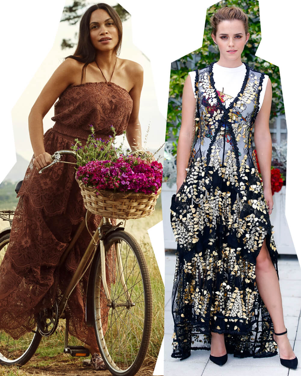 Sustainable Fashion Celebs Emma Watson and Rosario Dawson - conscious celebrity styles