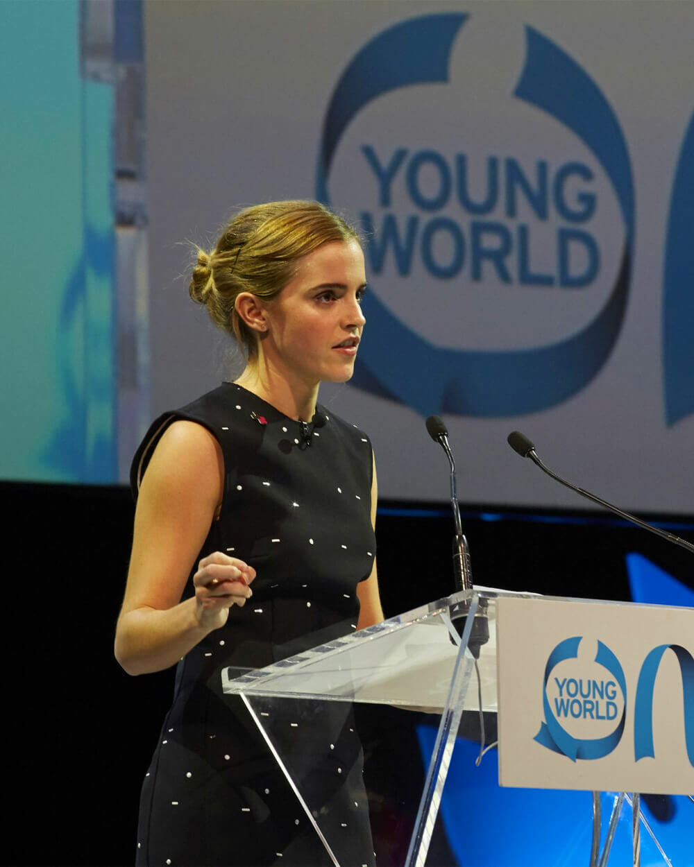 Emma Watson activism at Young World