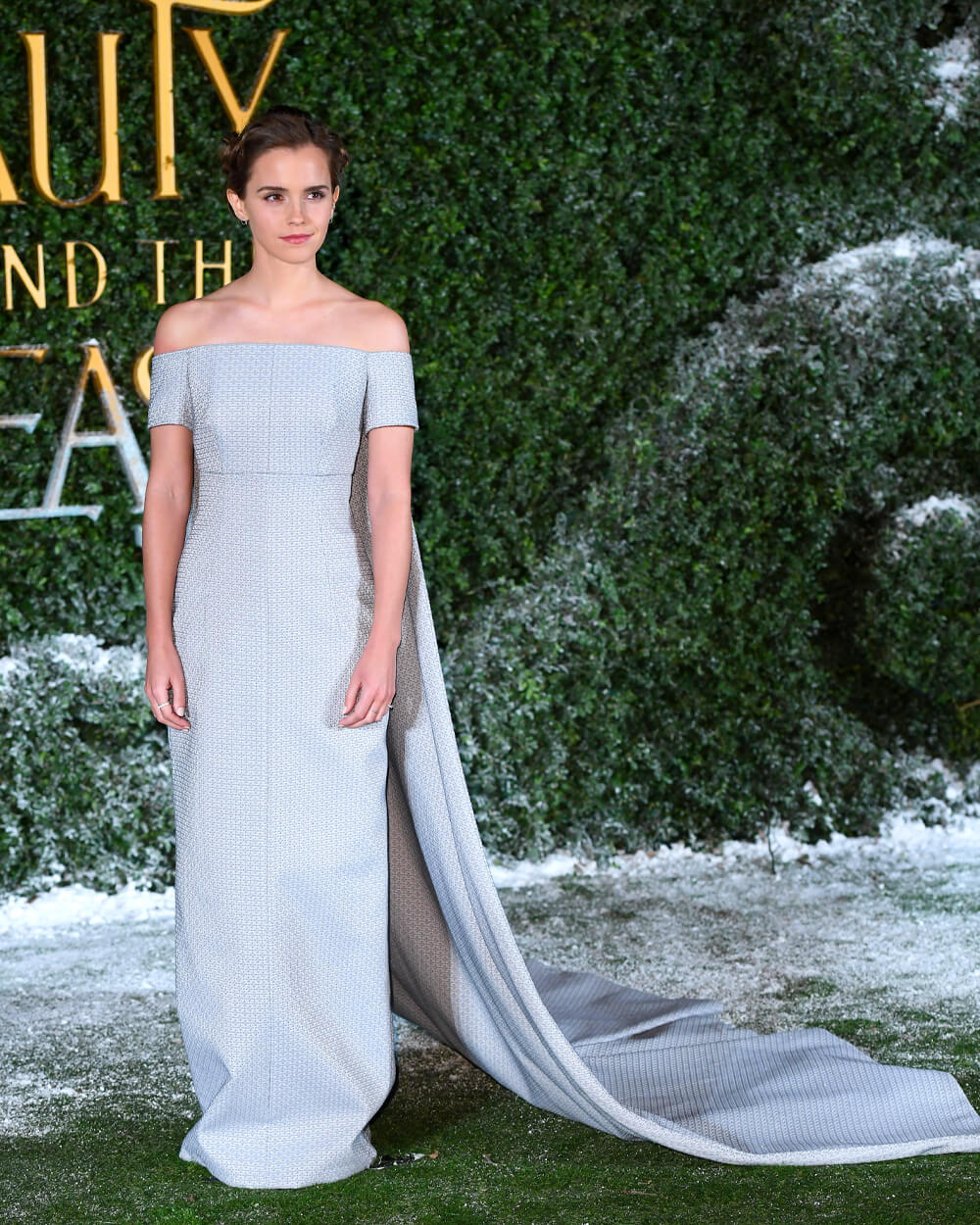 Emma Watson wearing Emilia Wickstead gown for Beauty and the Beast