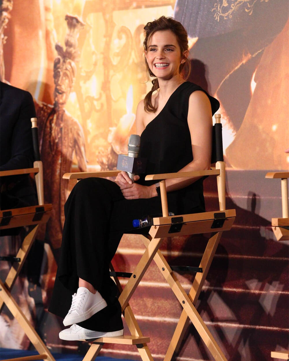 Emma Watson wearing Good Guys Don't Wear Leather trainers