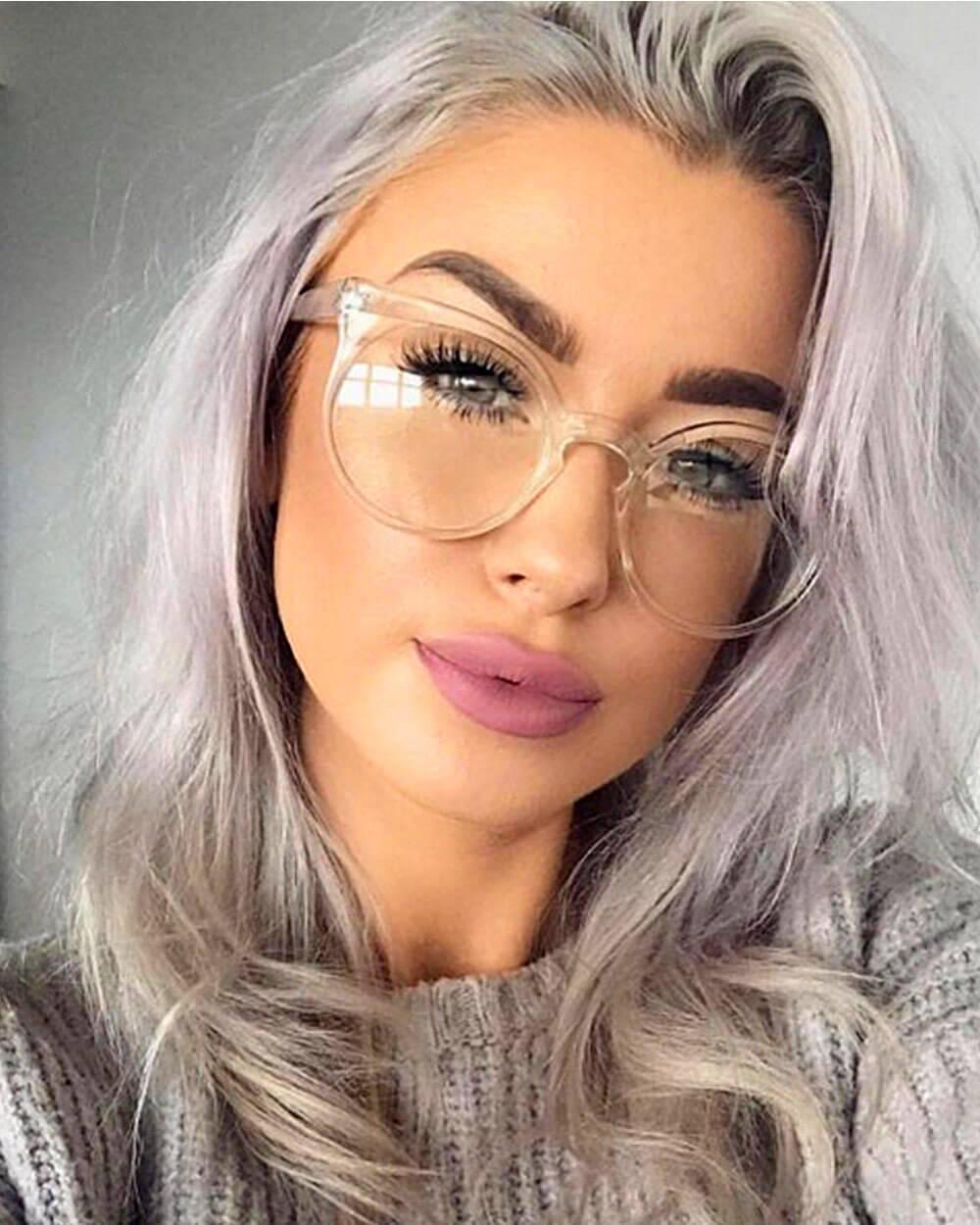 Transparent eyewear fashion