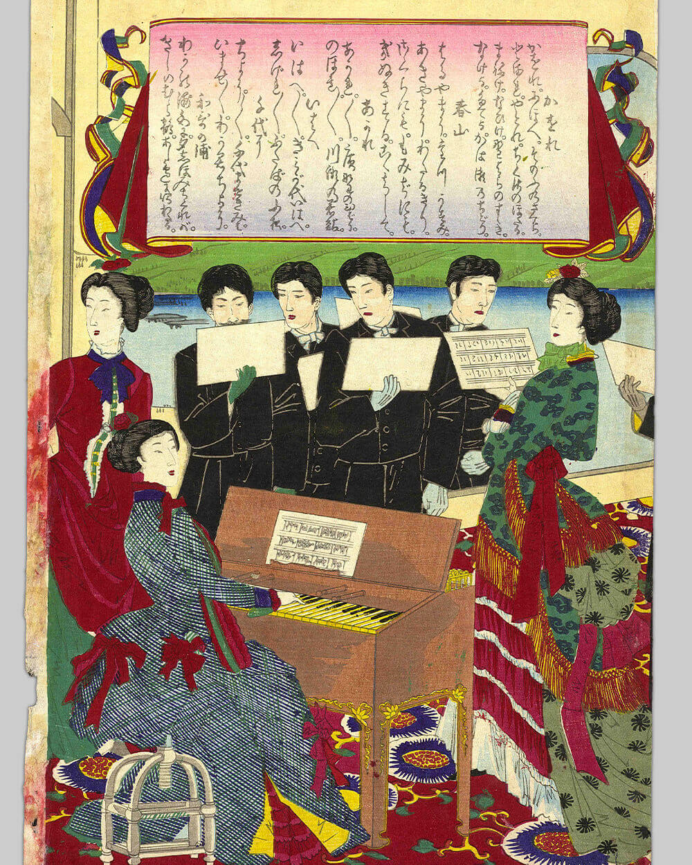 Japanese culture and fashion in Meiji Era (1868-1912) influenced by west