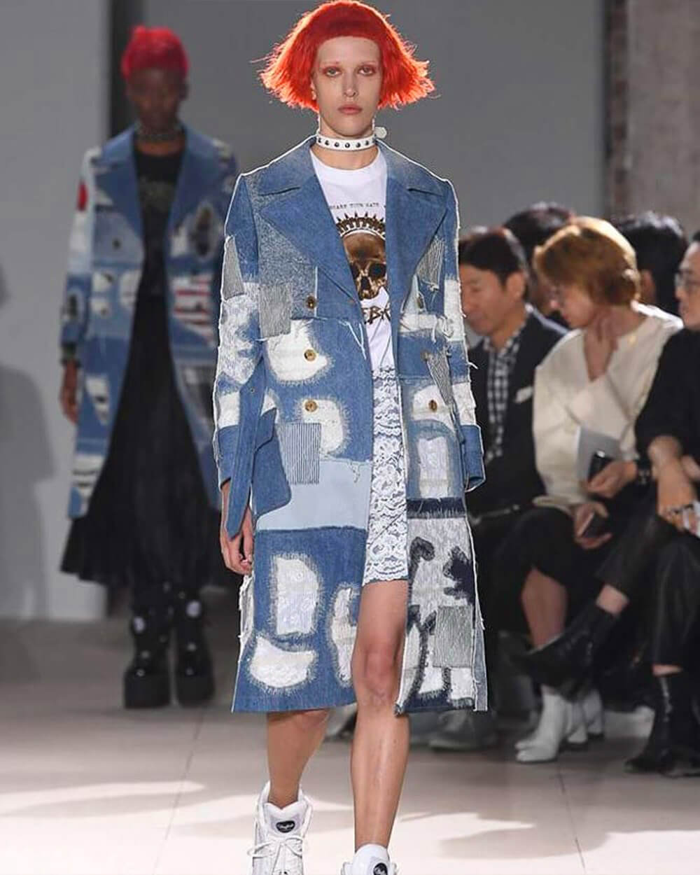 Junya Watanabe's upcycled boro patchwork sustainable collection