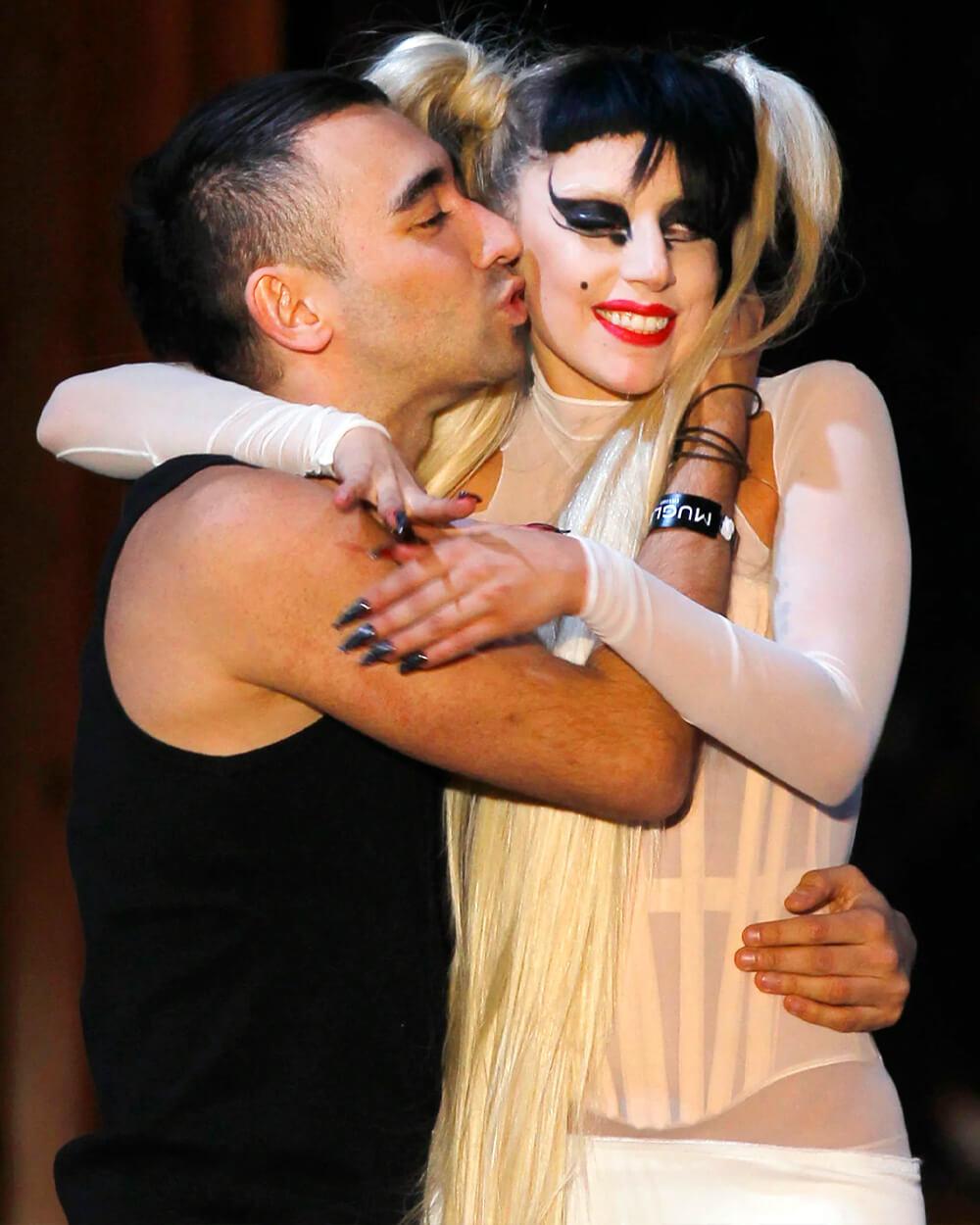 Nicola Formichetti with Lady Gaga
