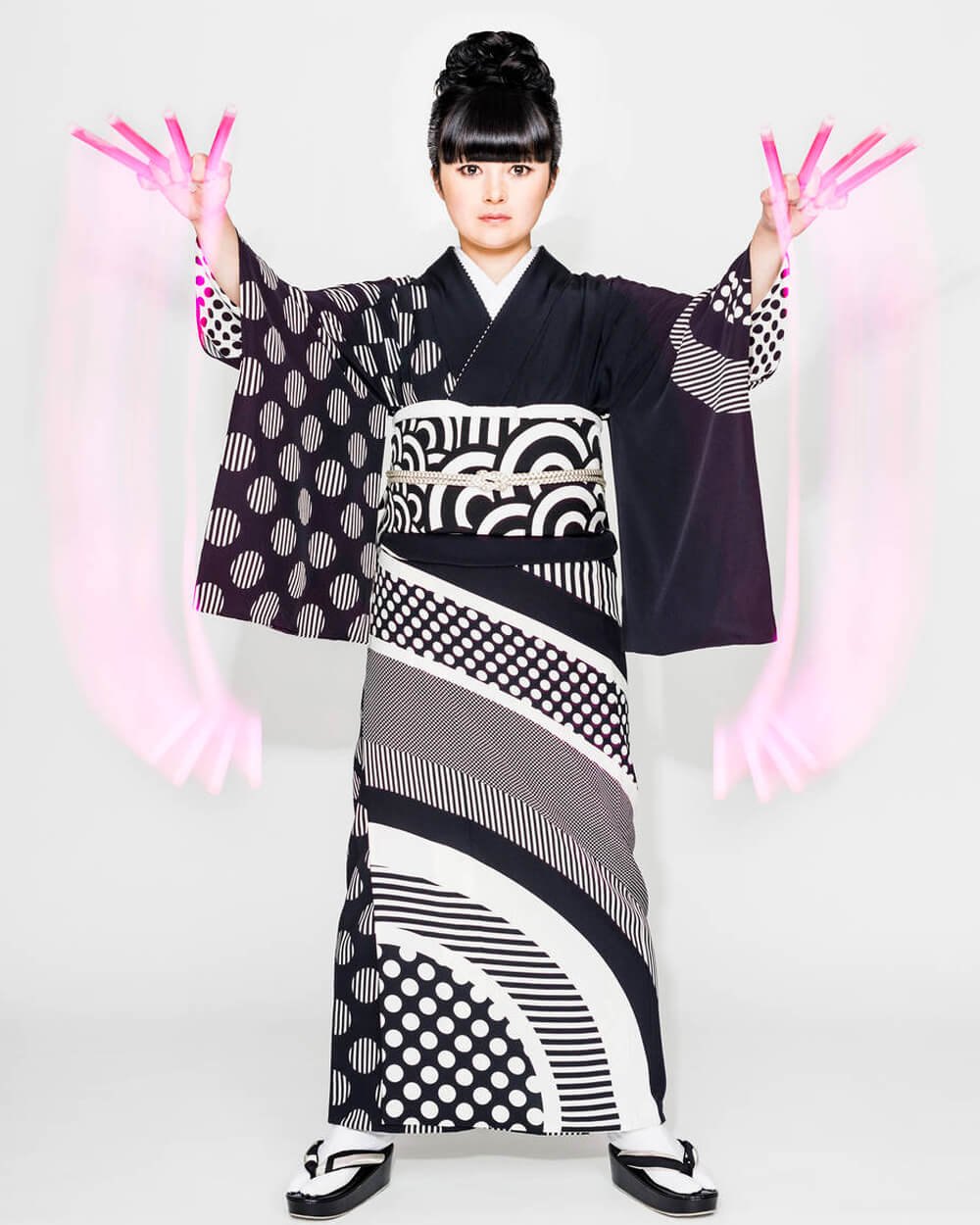 Hiroko Takahashi kimono featured in 'Kimono: Kyoto to Catwalk' at the Victoria and Albert Museum.