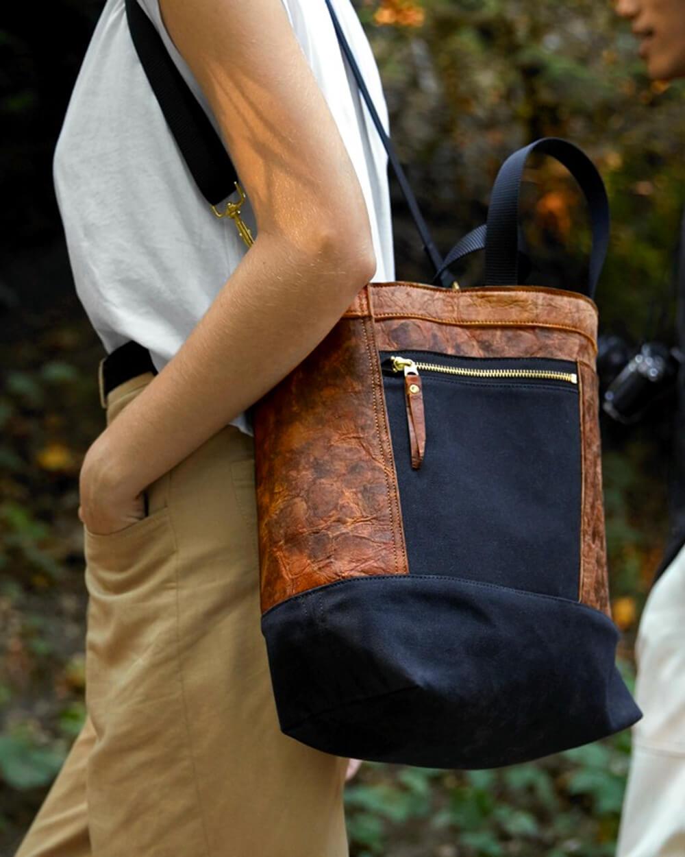 Bolt Threads mushroom leather bag