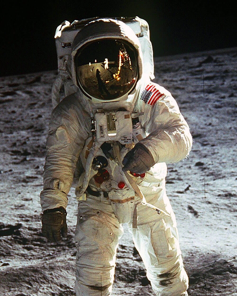 Smell In Space Station - an astronaut walking on the moon