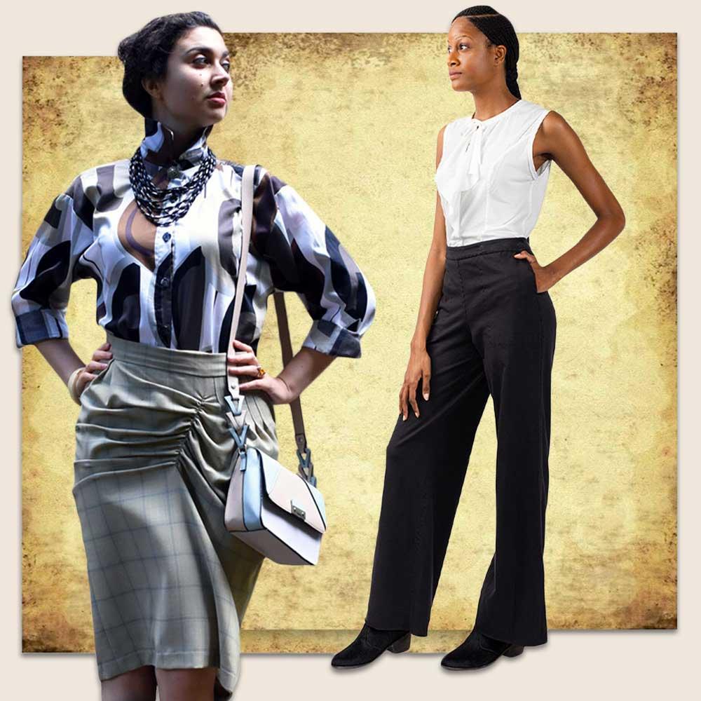 Dark Academia Skirt and Trousers