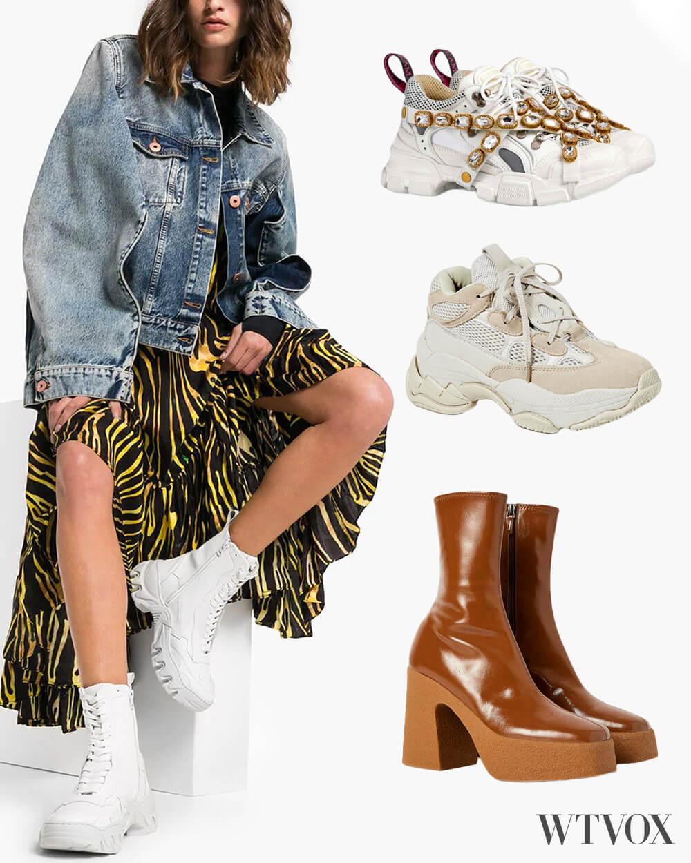 Chunky shoes fashion trend