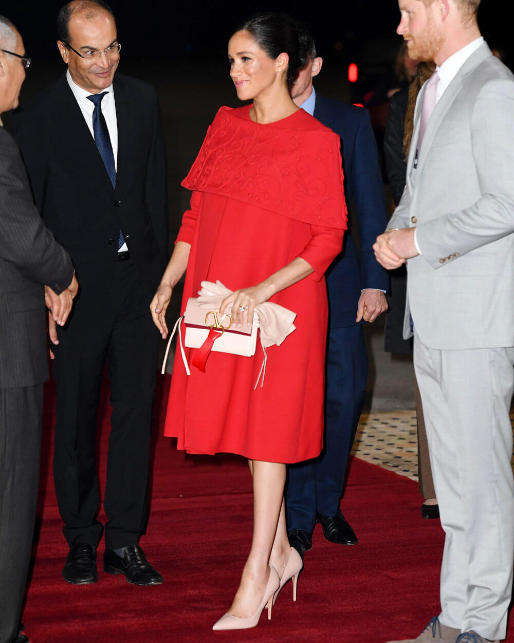 Meghan Markle red Valentino dress