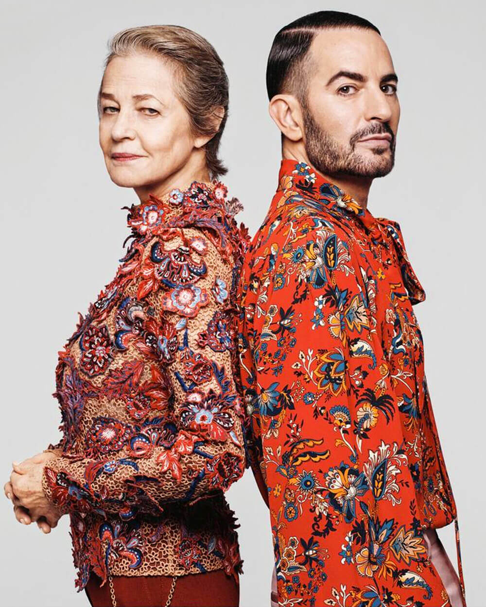 Givenchy Spring/Summer '20 campaign, fronted by Marc Jacobs and Charlotte Rampling