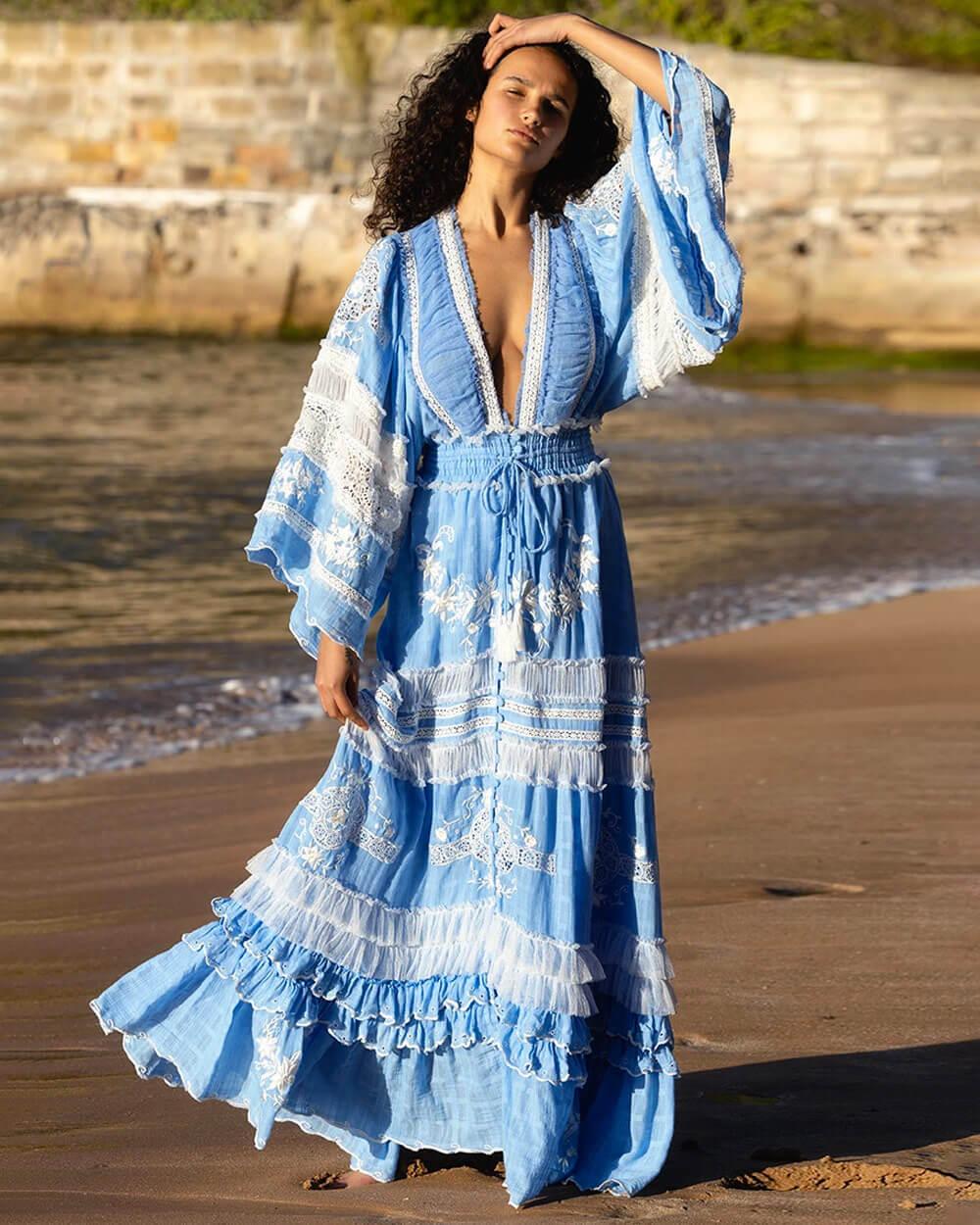Fillyboo blue boho style dress