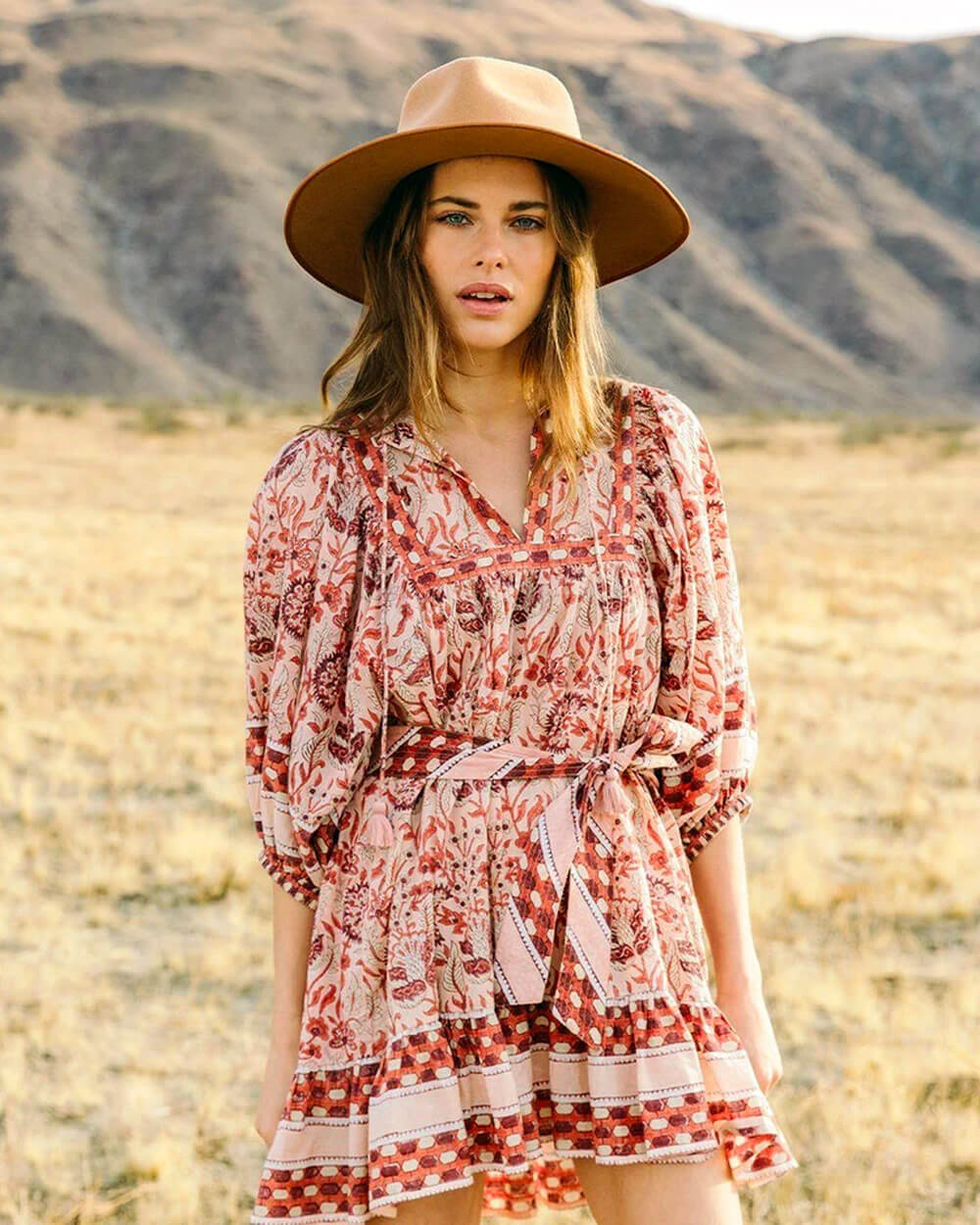 Cleobella artisanal boho dress