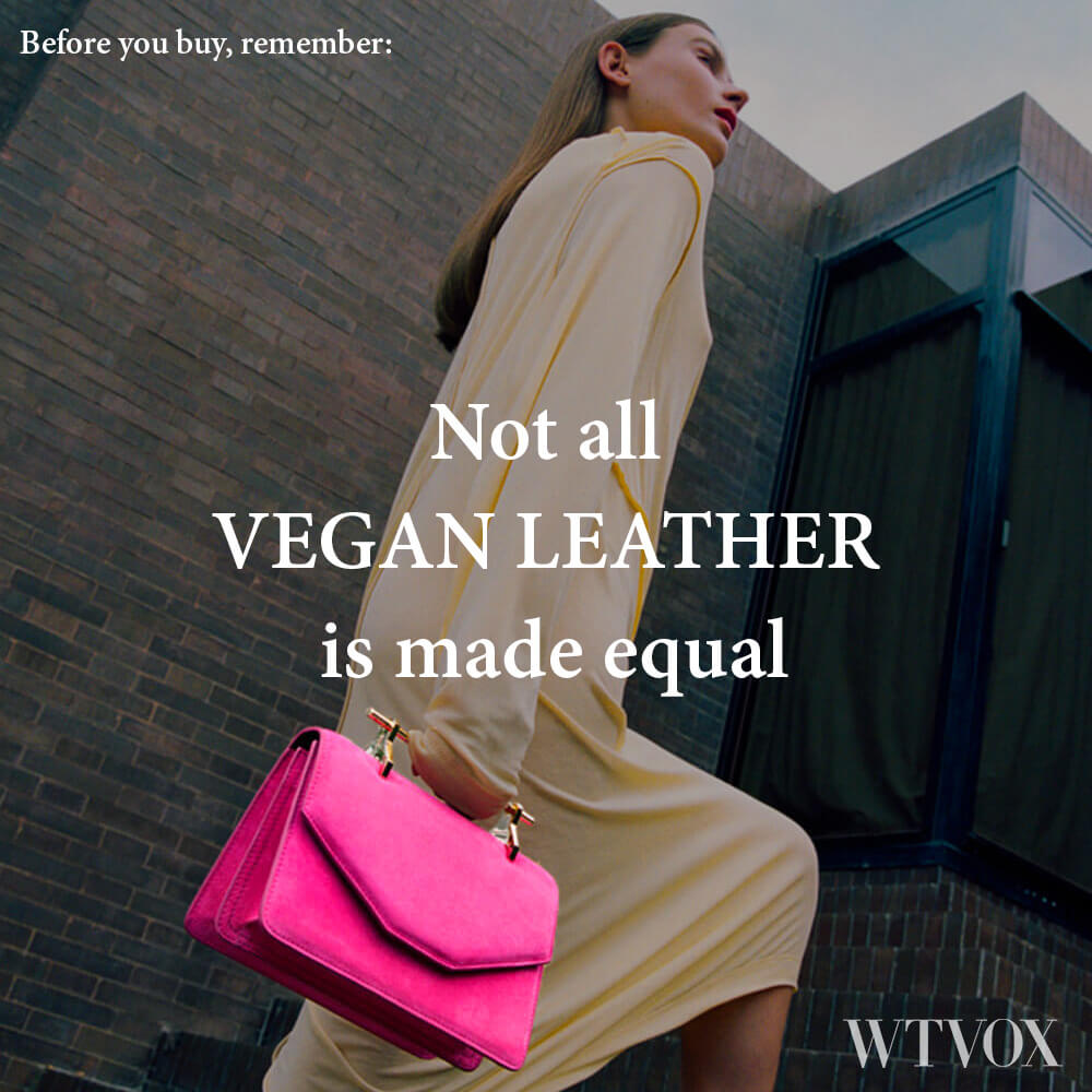 Vegan leather is also made from natural materials such as pineapple leaves, apple peels and mushrooms