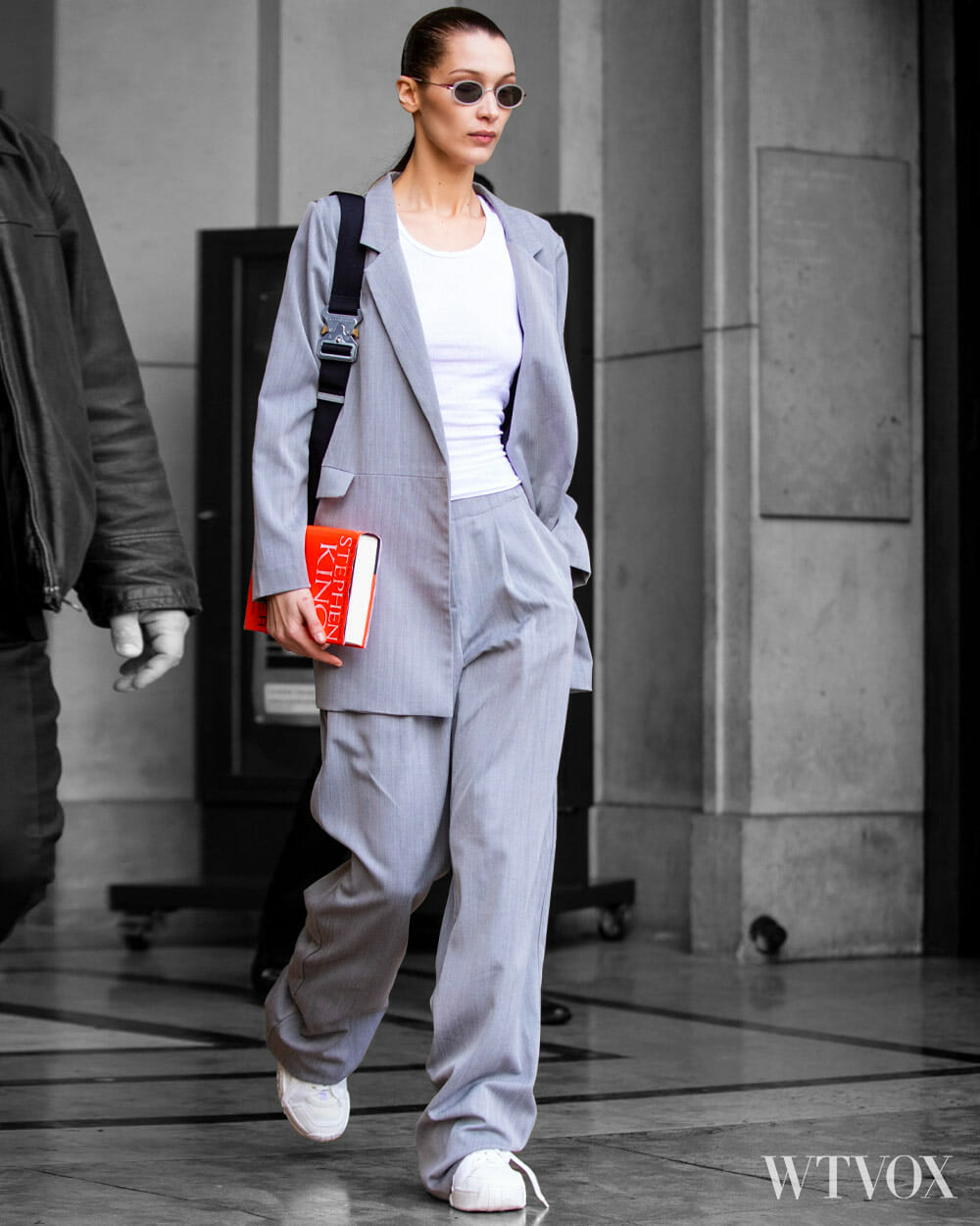 Bella Hadid Wearing Streetwear