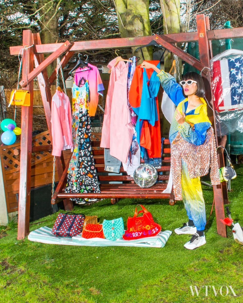 Garage clothes sale