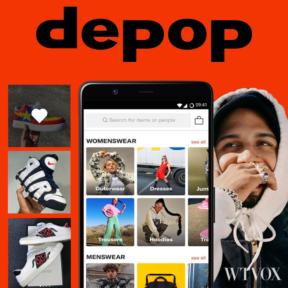 Depop online thrift store