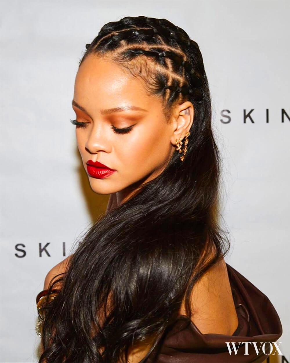 Rihanna in Fenty Skin openning