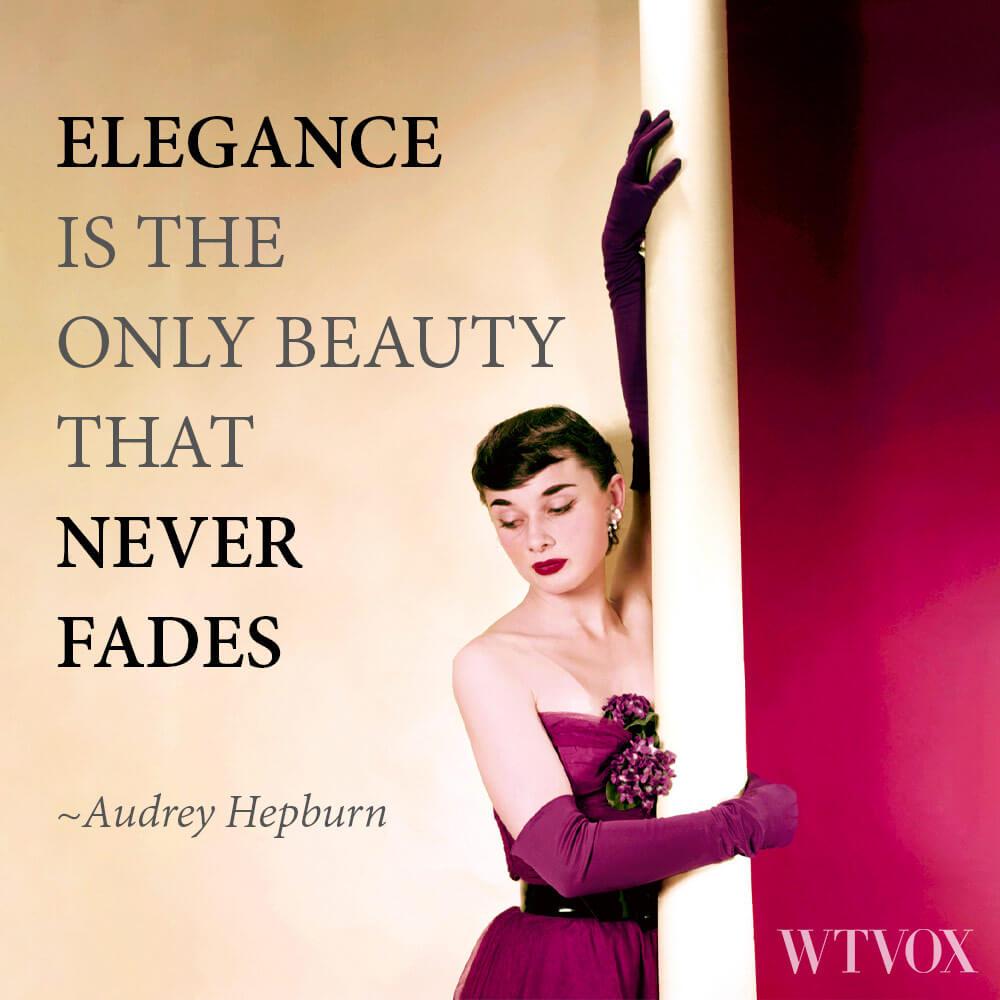 Audrey Hepburn vintage fashion quote
