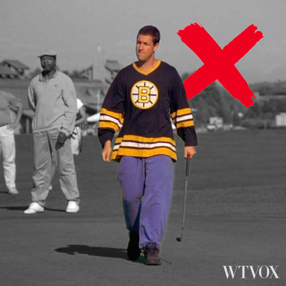 What not to wear when golfing